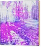 Colorful Trees Xv Wood Print