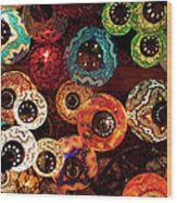 Colorful Turkish Lanterns From The Wood Print
