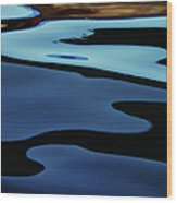 Colorful Water Background Abstract Wood Print