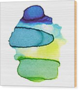 Colorful Watercolor Paint Paper Texture Wood Print