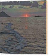 Colors Of The Sunrise Wood Print