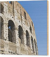 Colosseum Detail Wood Print