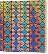 Coloured Glass Window Wood Print