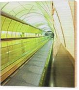 Colourful Walkway Wood Print