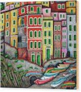 Colours of Riomaggiore, Cinque Terre Wood Print