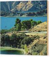 Columbia River Lakes Wood Print
