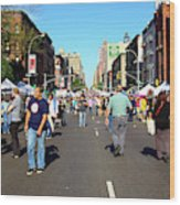 Columbus Day On Amsterdam Ave. Upper West Side, New York 2008 Wood Print