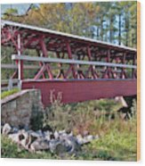 Colvin Covered Bridge Wood Print