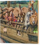 Come Aboard There's Plenty Of Room Ark Wood Print