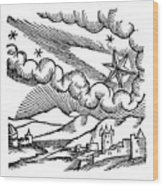 Comet Of 1456 Halley, 1557 Wood Print
