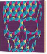Conceptual Human Skull. Vector Wood Print