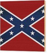 Confederate Stars And Bars T-shirt Wood Print