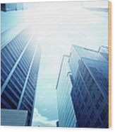 Contemporary Office Building Wood Print