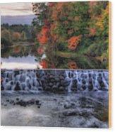 Contoocook River Reservoir  Wood Print