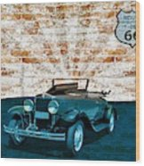 Convertible Vintage Car Wood Print