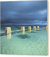 Coogee Pool Wood Print