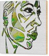 Cool Green Wood Print