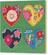 Corazon 1- Art By Linda Woods Wood Print