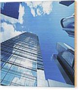 Corporate Building Wood Print