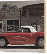 Corvette Cafe - C1 Wood Print