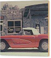 Corvette Cafe - C1 - Vintage Film Wood Print