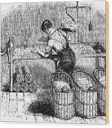 Cotton Manufacture, C1845 Wood Print