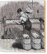 Cotton Manufacture Wood Print