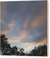 Cotton Sky Wood Print