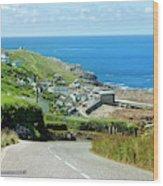 Cove Hill Sennen Cove Wood Print