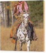 Cowboy No. 1 Wood Print