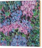Cozy Hydrangeas Wood Print