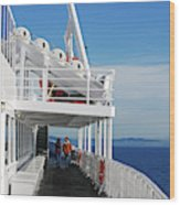 Cozy Walk -  Painterly Ferry To Victoria Wood Print