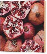 Cracked Pomegranate Wood Print
