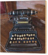 Crandall No3 Typewriter Wood Print