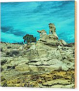 Crazy Rock Formations In New Mexico Wood Print