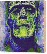 Frankenstein Watercolor Wood Print