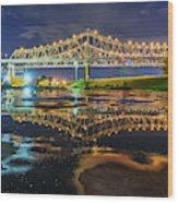 Crescent City Reflection Wood Print