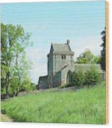 Crighton Church And Track Wood Print