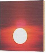 Crimson Sun Wood Print
