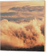 Cripple Creek Fog Wood Print
