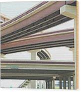 Crisscrossing Freeway Overpasses Wood Print