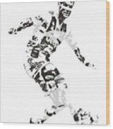 Cristiano Ronaldo Juventus Pixel Art 1 Wood Print