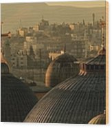Crosses And Domes In The Holy City Of Wood Print