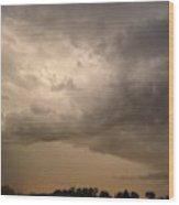 Crossing Sky Wood Print