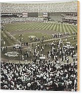 Crowd At Candlestick Park Wood Print
