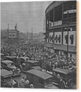 Crowd At Wrigley During World Series Wood Print