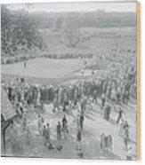 Crowd Watching Bobby Jones During Golf Wood Print