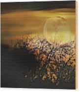 Crows Nest Full Moon Wood Print