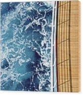 Cruise Ship And Ocean Wood Print