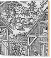 Crushing Gold Bearing Ores In Mills Wood Print